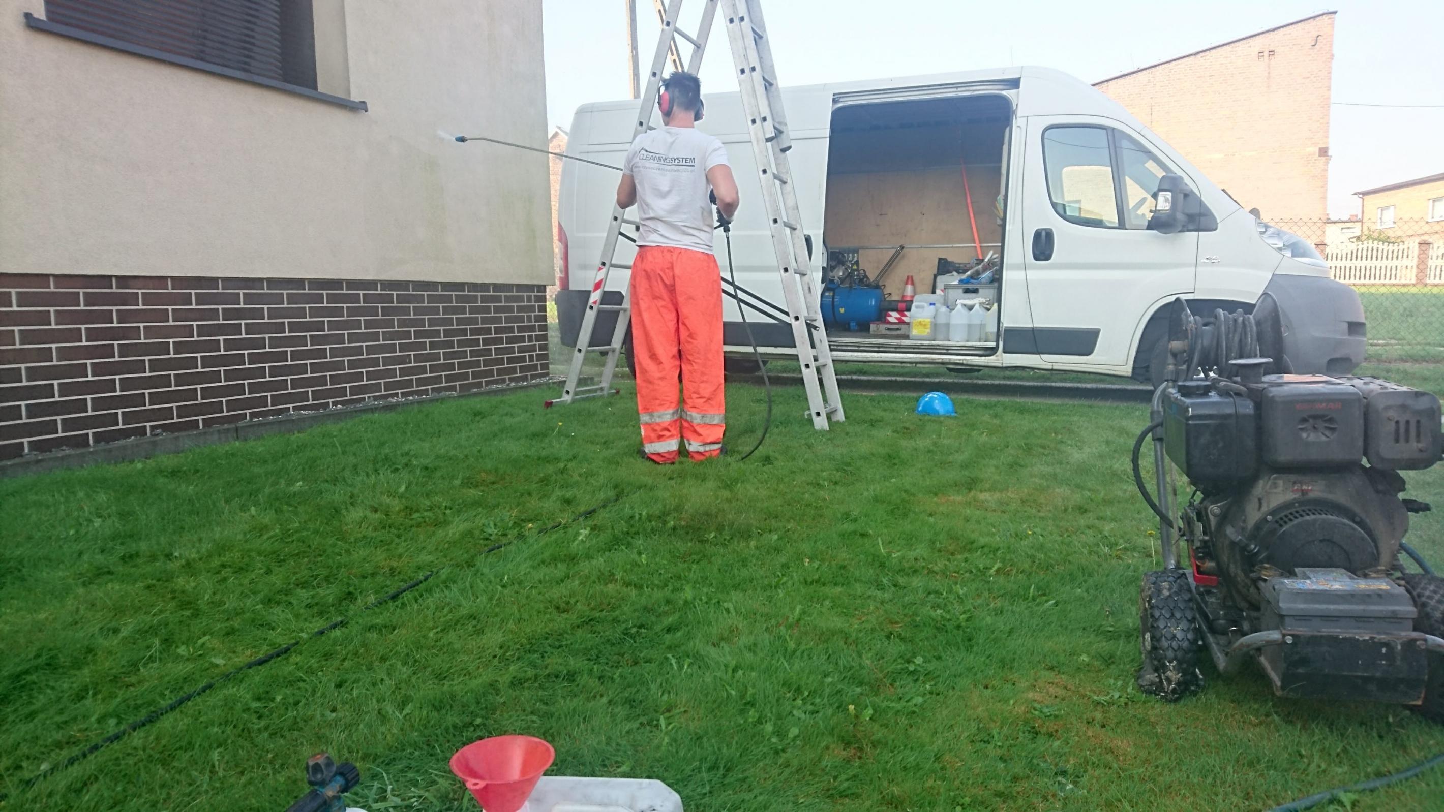 Mycie budynków